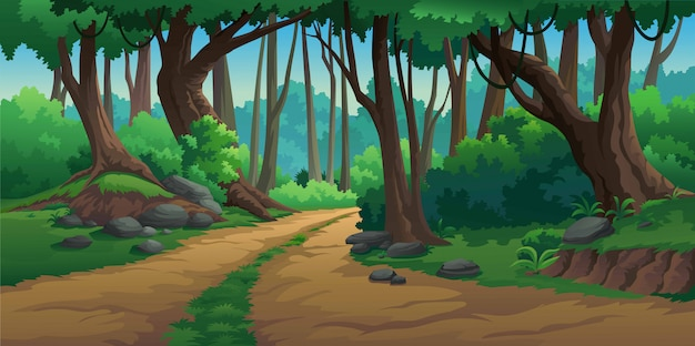 Vector illustrations in the wild and natural Premium Vector