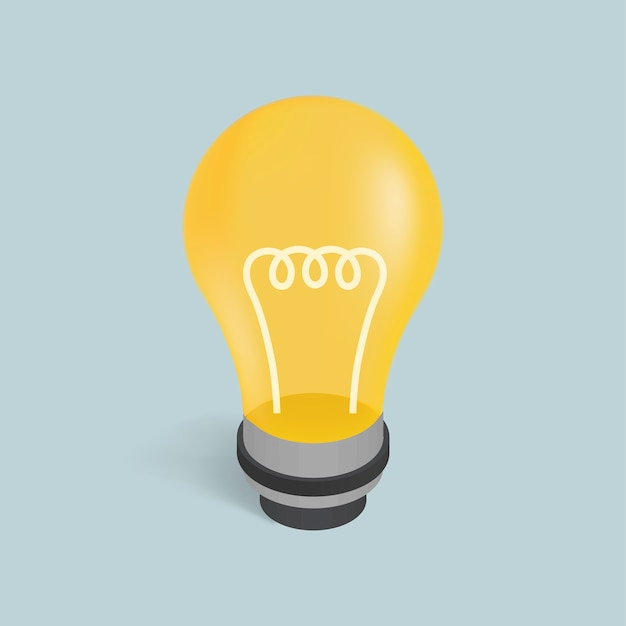 Vector image of a light bulb icon Free Vector