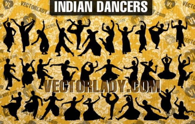 Vector indian dancers | Vector Lady