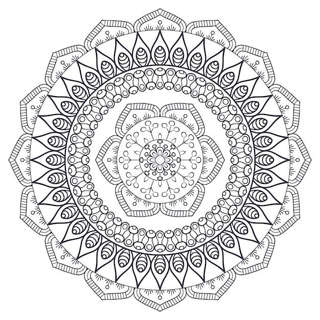 Mandala indiana vettoriale Vettore gratuito