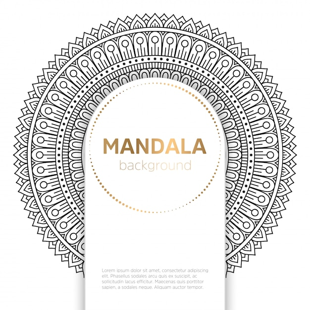 Vector indian mandala Free Vector