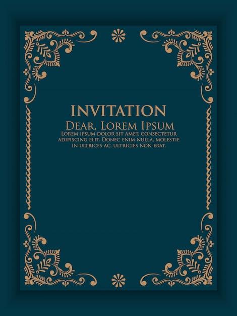 Векторные приглашения, открытки с элементами этнических арабески. Бесплатные векторы