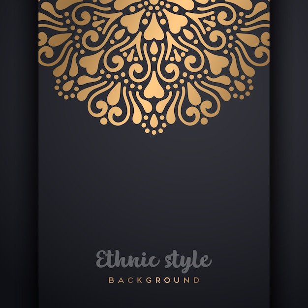Vector islamic background with copyspace Free Vector