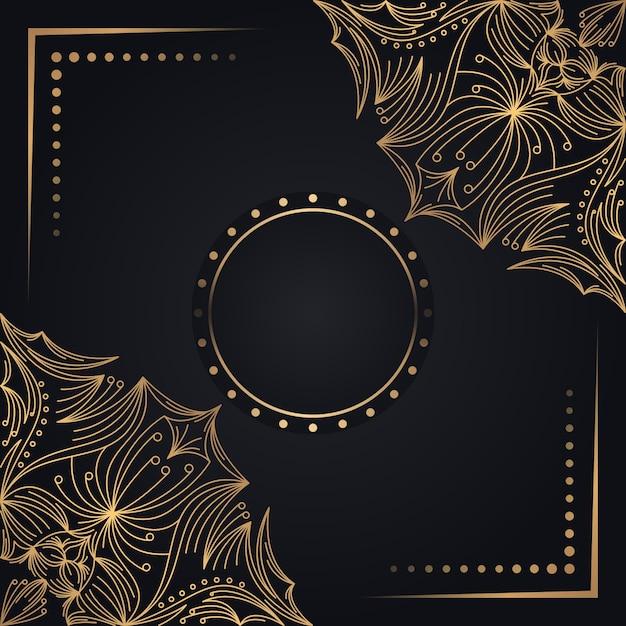 Vector islamic background with mandala Premium Vector