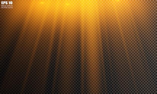 Vector isolated spotlight. light effect Premium Vector