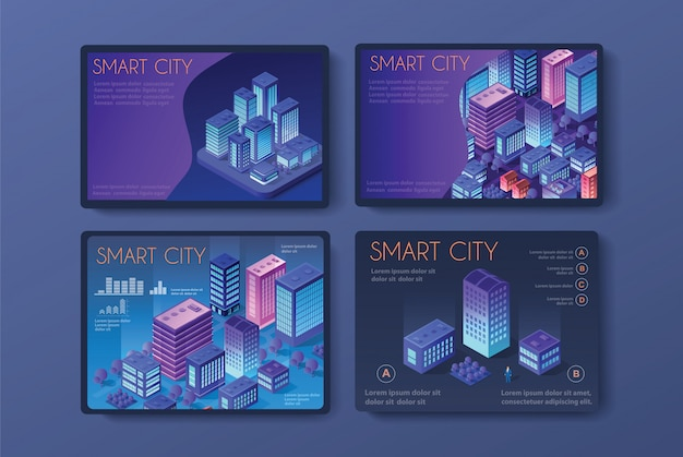 Vector isometric urban Premium Vector