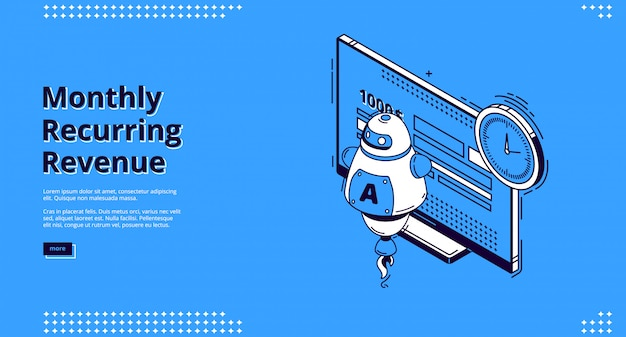 Vector landing page of monthly recurring revenue Free Vector