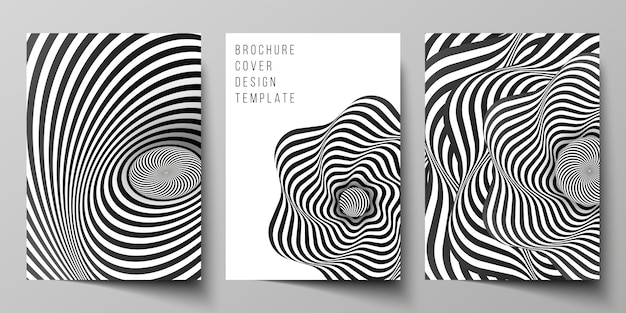 Vector layout of a4 cover mockups design templates for brochure Premium Vector