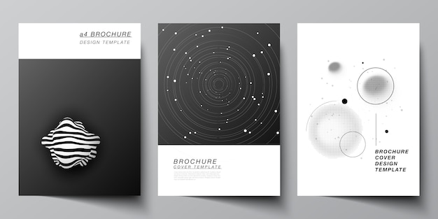 Vector layout of a4 format cover mockups design templates for brochure Premium Vector