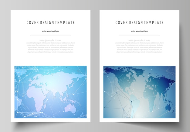 The vector layout of a4 format covers design templates for brochure, flyer Premium Vector