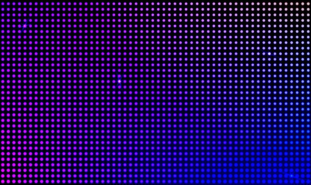 Vector led wall video screen with dot lights Free Vector