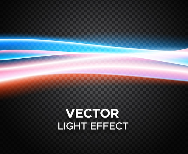 Vector light effect on checkered background Premium Vector