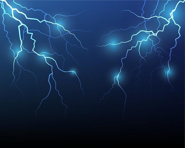 Vector lightning flash strike background Premium Vector