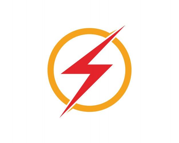 vector lightning icon logo and symbols template vector premium