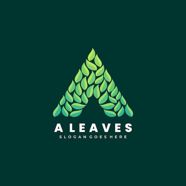 Векторные иллюстрации логотип абстрактный цветок листья листья сложены форма красочный стиль Premium векторы