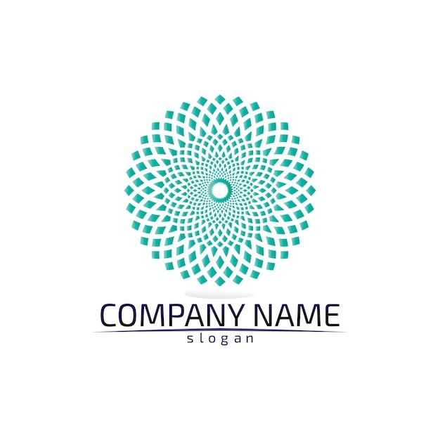 Векторный логотип цветок лотоса для оздоровления, спа и йоги. Premium векторы