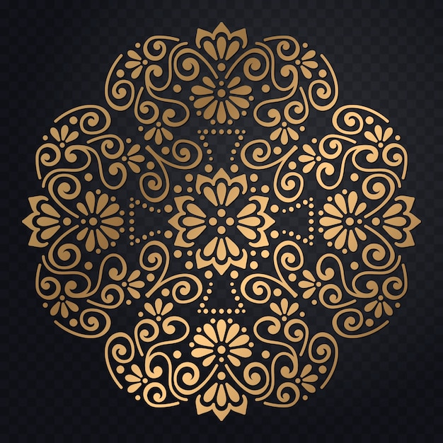 Vector luxury wedding invitation with mandala Free Vector