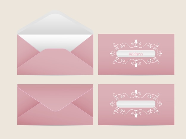 Envelope Template Vectors Photos and PSD files – Paper Design Template