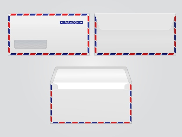 vector mail envelope par avion blank paper envelopes for your