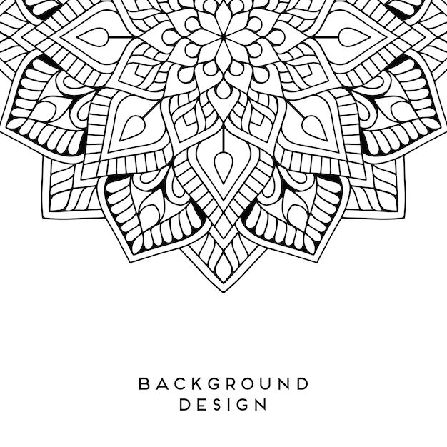 Vector mandala background Premium Vector