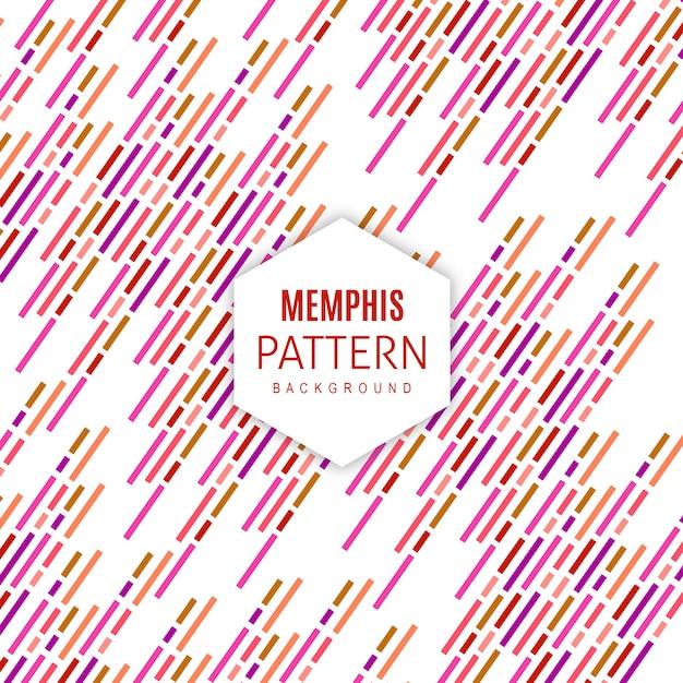 Vettore memphis pattern background Vettore gratuito