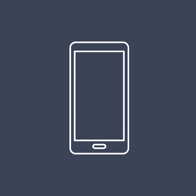 Vector of mobile phone icon Free Vector