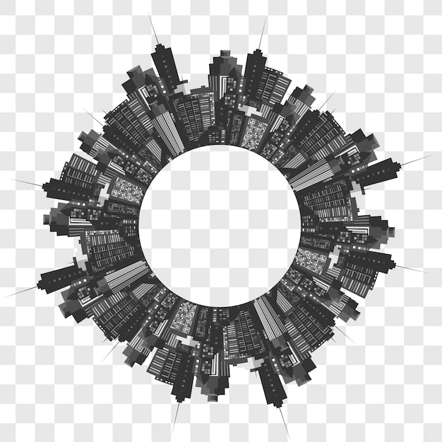 Vector modern city. Free Vector