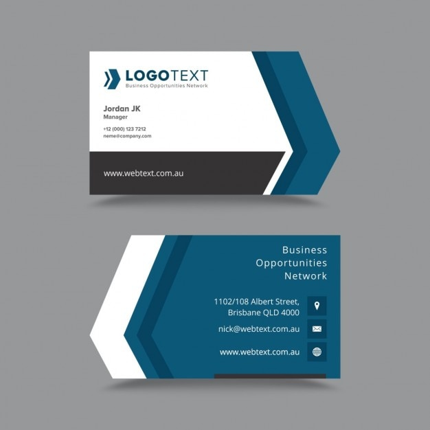 Vector modern creative and clean business card template for Eps business card template