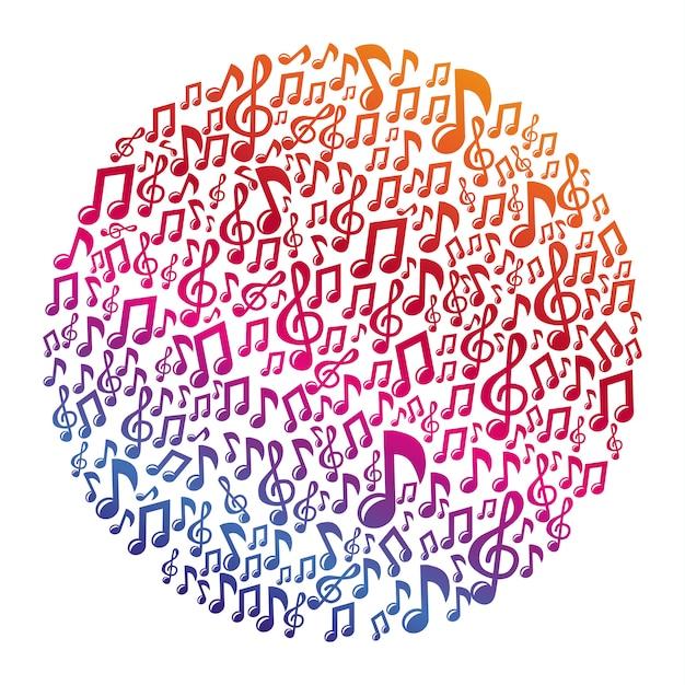 Vector music concept - musical notes Premium Vector