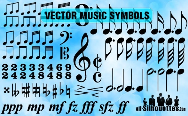 Vector Music Symbols Vector Free Download