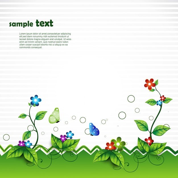 Vector nature scene with space for text Free Vector