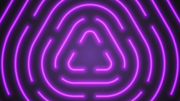 Vector neon violet lighting abstract background Premium Vector