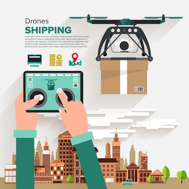 Vector object drones Premium Vector