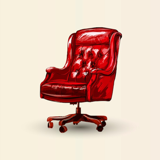 Vector office chair. Premium Vector