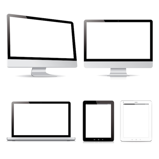 Vector pack computer tablet electronic devices Premium Vector