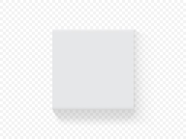 벡터 종이 사각형 포장 상자 프리미엄 벡터