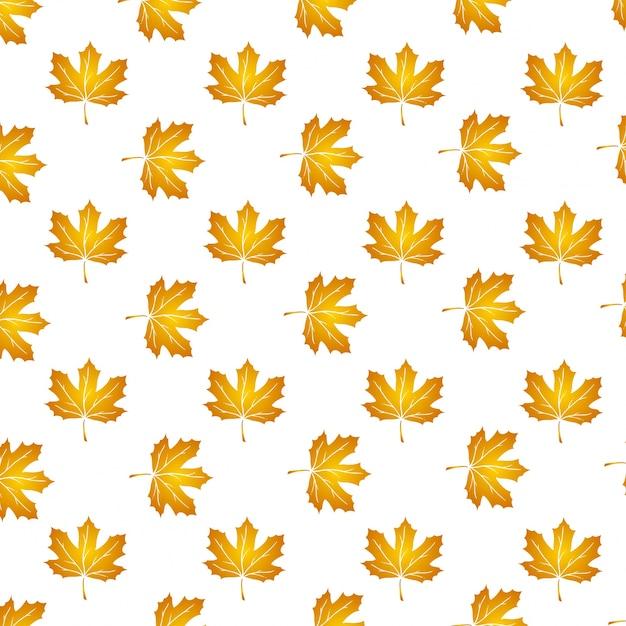 Векторный узор с осенними листьями, цветочный фон, торжественное падение. Premium векторы
