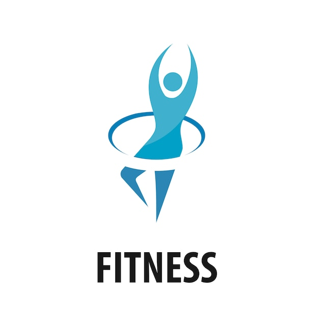 Vector people fitness logo Premium Vector