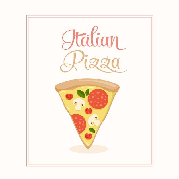 Vector pizza design Free Vector