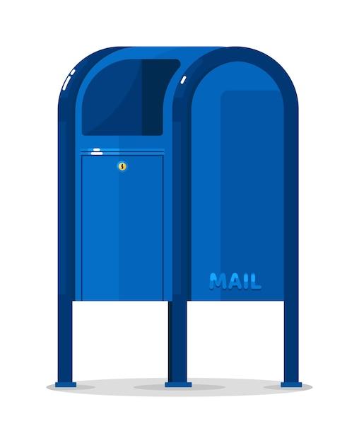 分離されたベクトル郵便ポストコンテナ Premiumベクター