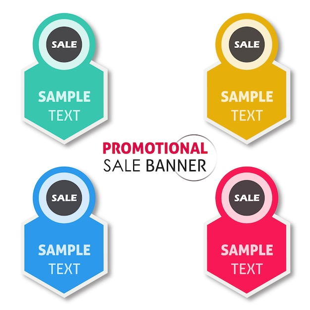 Vector promotional sale banner designs Free Vector