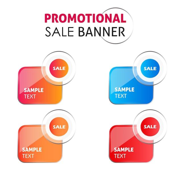 Disegni della bandiera di vendita promozionale di vettore Vettore gratuito