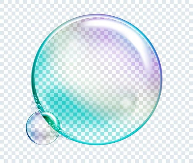 Vector rainbow water bubbles. transparent isolated realistic design elements. Premium Vector