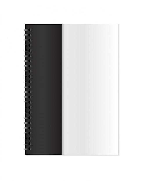 Vector realistic closed notebook mock up Premium Vector