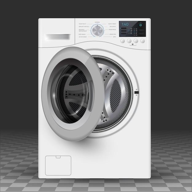 Vector  realistic  illustration of washer. Premium Vector