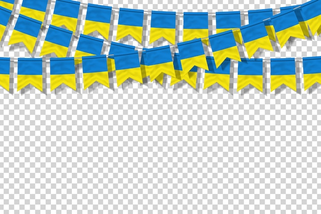 Вектор реалистичные изолированные партии флаги для украины для оформления шаблона Premium векторы