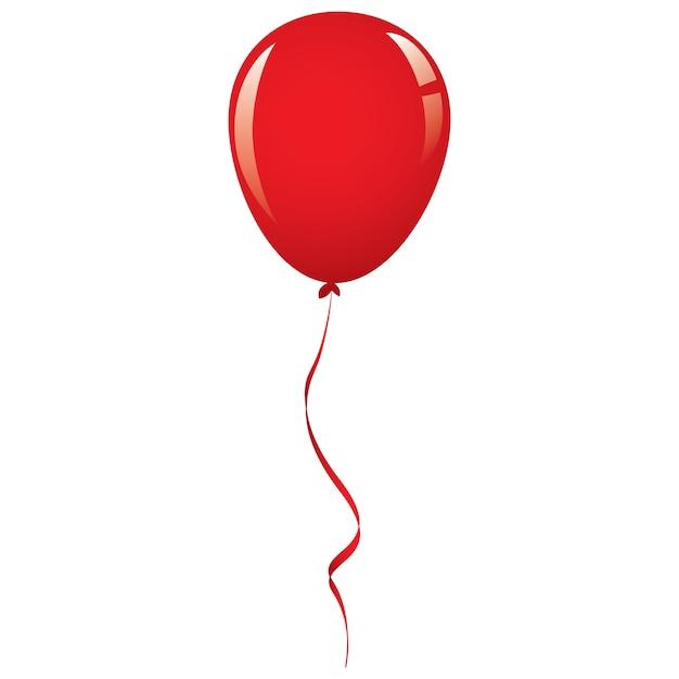Vector red balloon ribbon Premium Vector