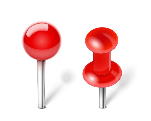 Вектор красный канцелярской кнопки для заметок Бесплатные векторы