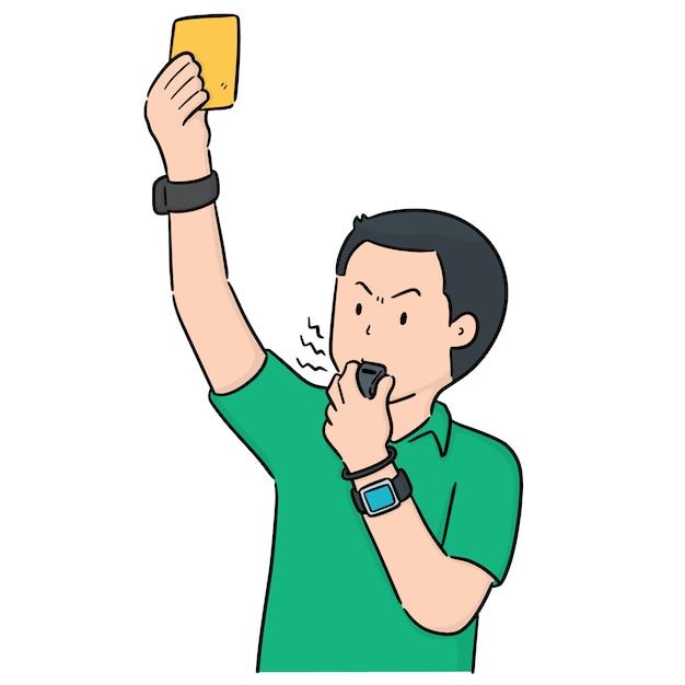 Vector of referee Premium Vector