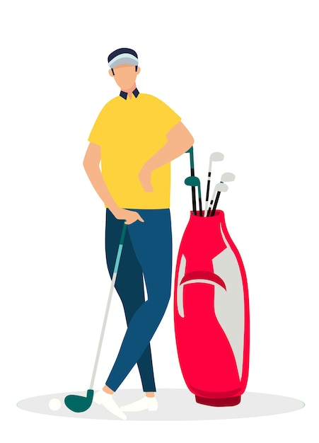 The vector of relax golf player Premium Vector